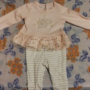 Matching baby girl outfit set